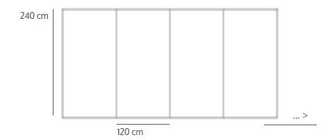 Pin board wall sizes